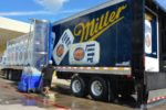 Trailer Wash Machine. truck washing equipment. Bitimec wash-bots battery powered 626-EZ truck & trailer washing machine washing a Miller Light Trailer